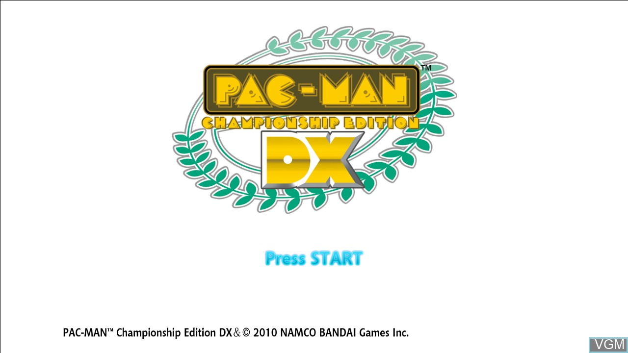 Title screen of the game Pac-Man Championship Edition DX on Microsoft Xbox 360