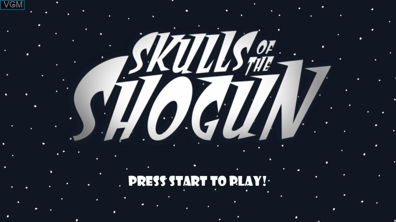 Title screen of the game Skulls of the Shogun on Microsoft Xbox 360
