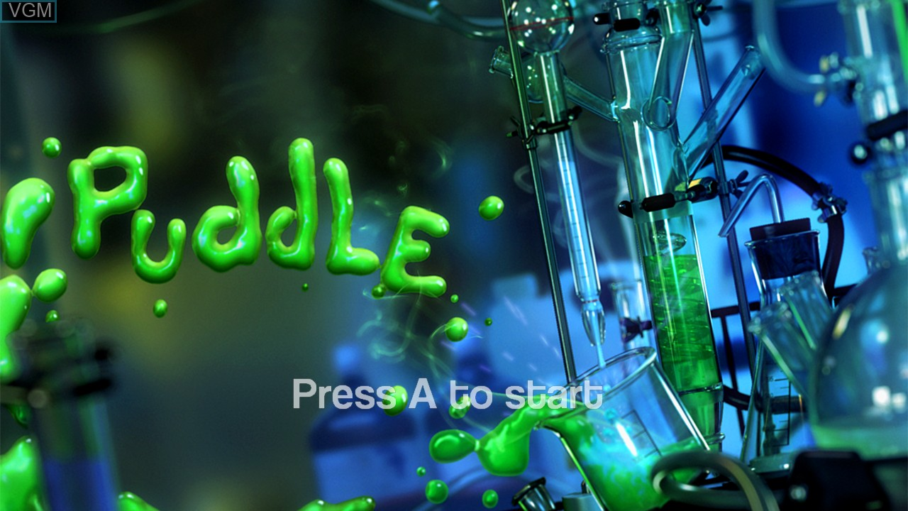 Title screen of the game Puddle on Microsoft Xbox 360