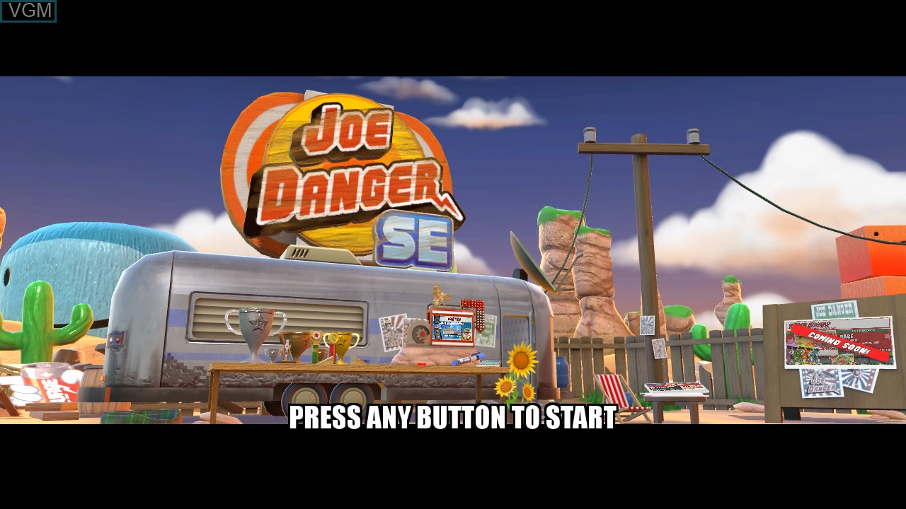 Title screen of the game Joe Danger - Special Edition on Microsoft Xbox 360