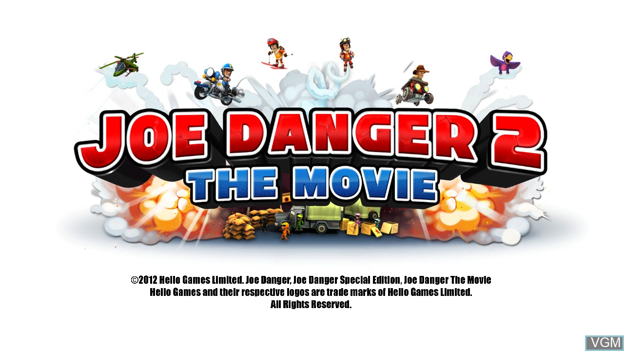Title screen of the game Joe Danger 2 - The Movie on Microsoft Xbox 360