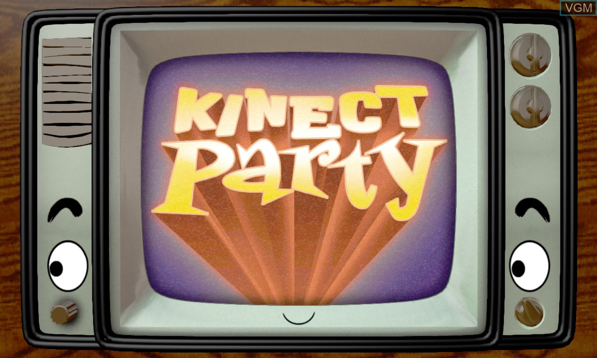 Title screen of the game Kinect Party on Microsoft Xbox 360