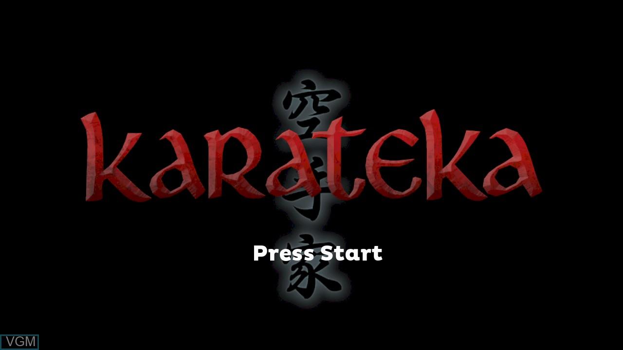 Title screen of the game Karateka on Microsoft Xbox 360