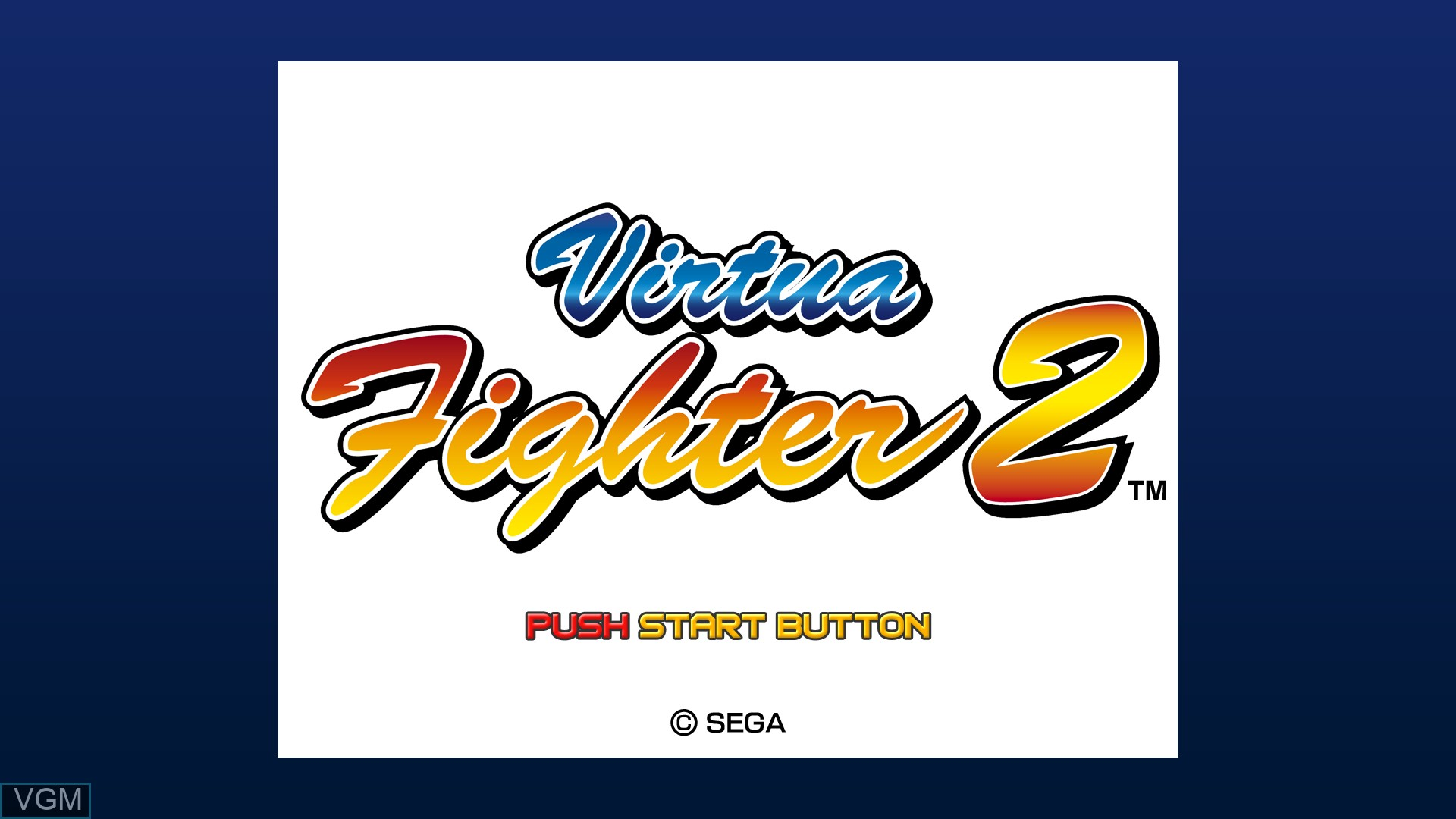 Title screen of the game Virtua Fighter 2 on Microsoft Xbox 360