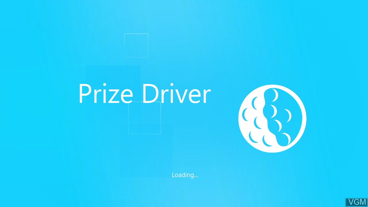 Title screen of the game Prize Driver on Microsoft Xbox 360