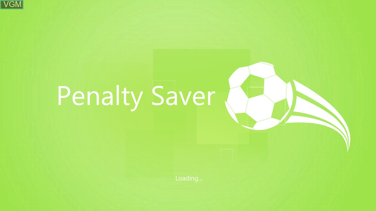 Title screen of the game Kinect Sports - Penalty Saver on Microsoft Xbox 360