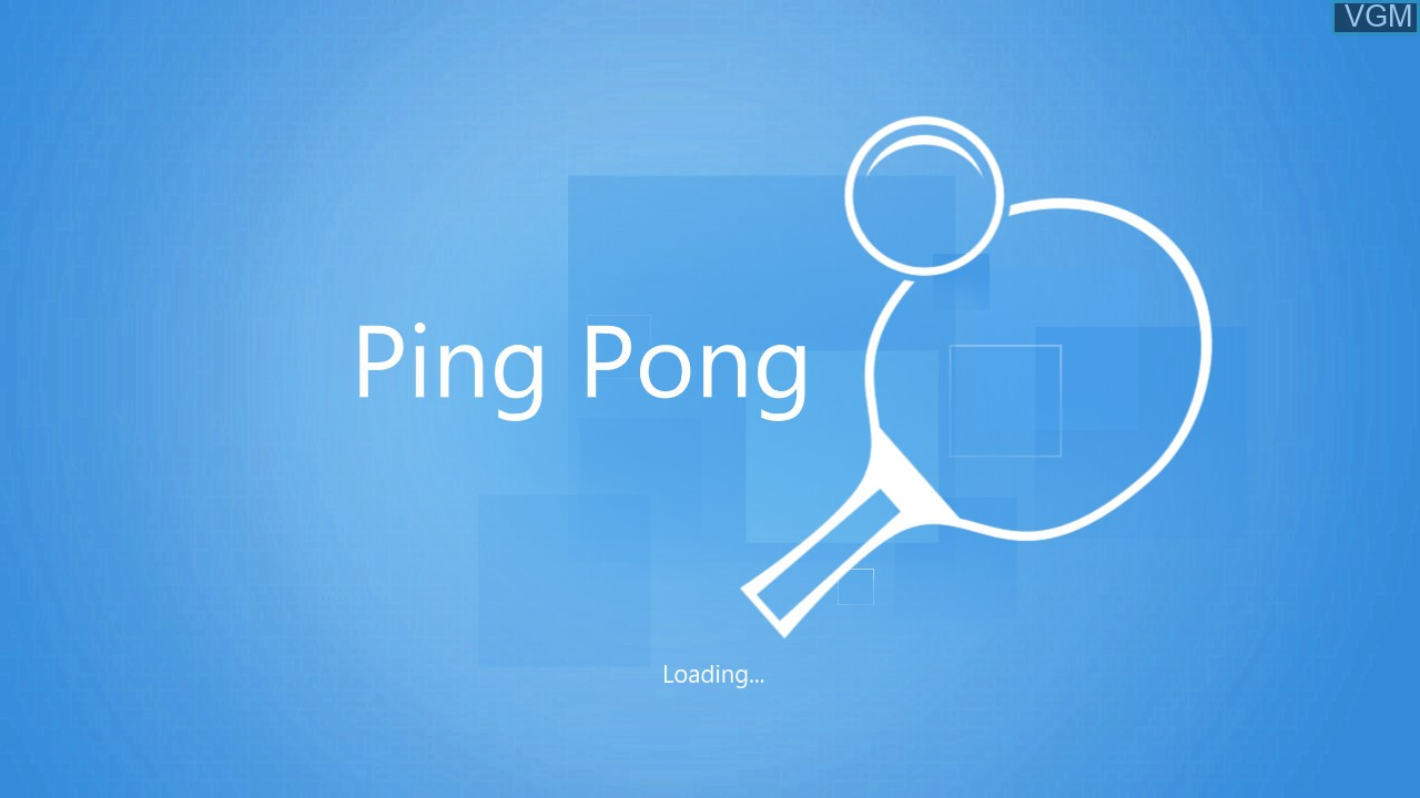 Title screen of the game Kinect Sports - Ping Pong on Microsoft Xbox 360