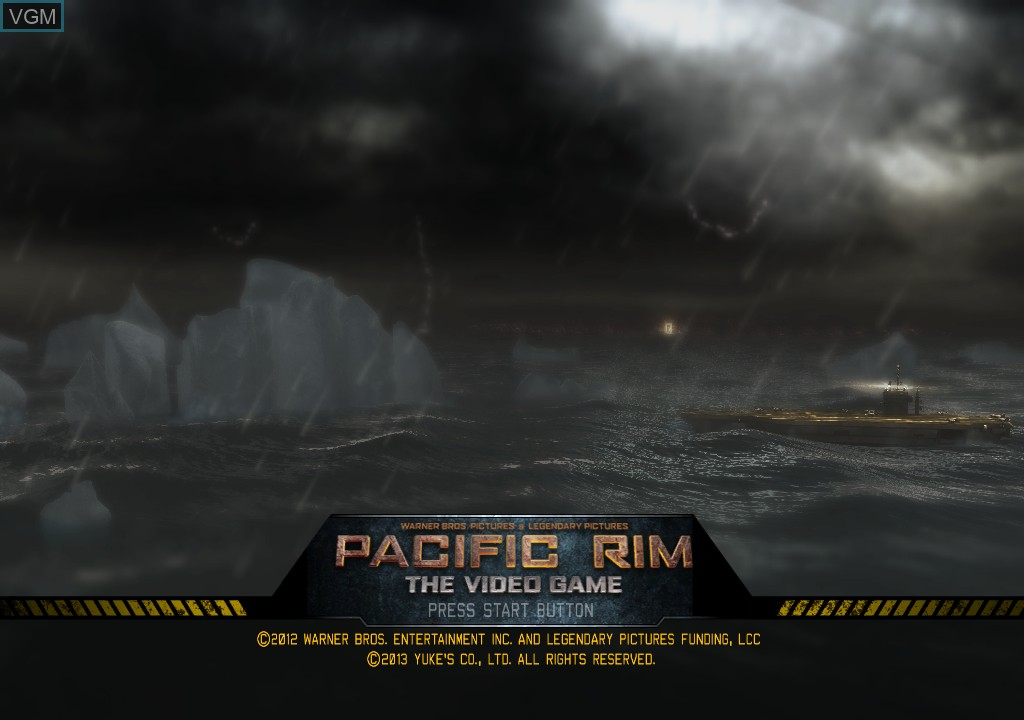 Title screen of the game Pacific Rim on Microsoft Xbox 360