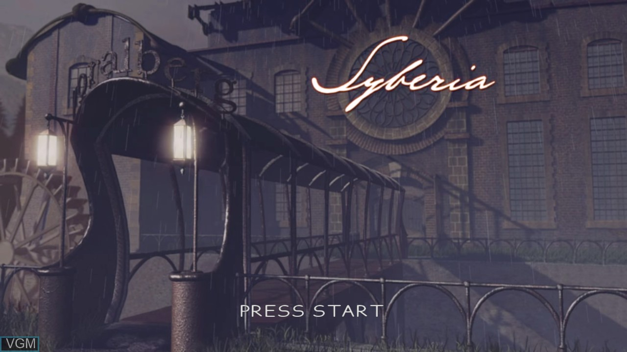 Title screen of the game Syberia on Microsoft Xbox 360