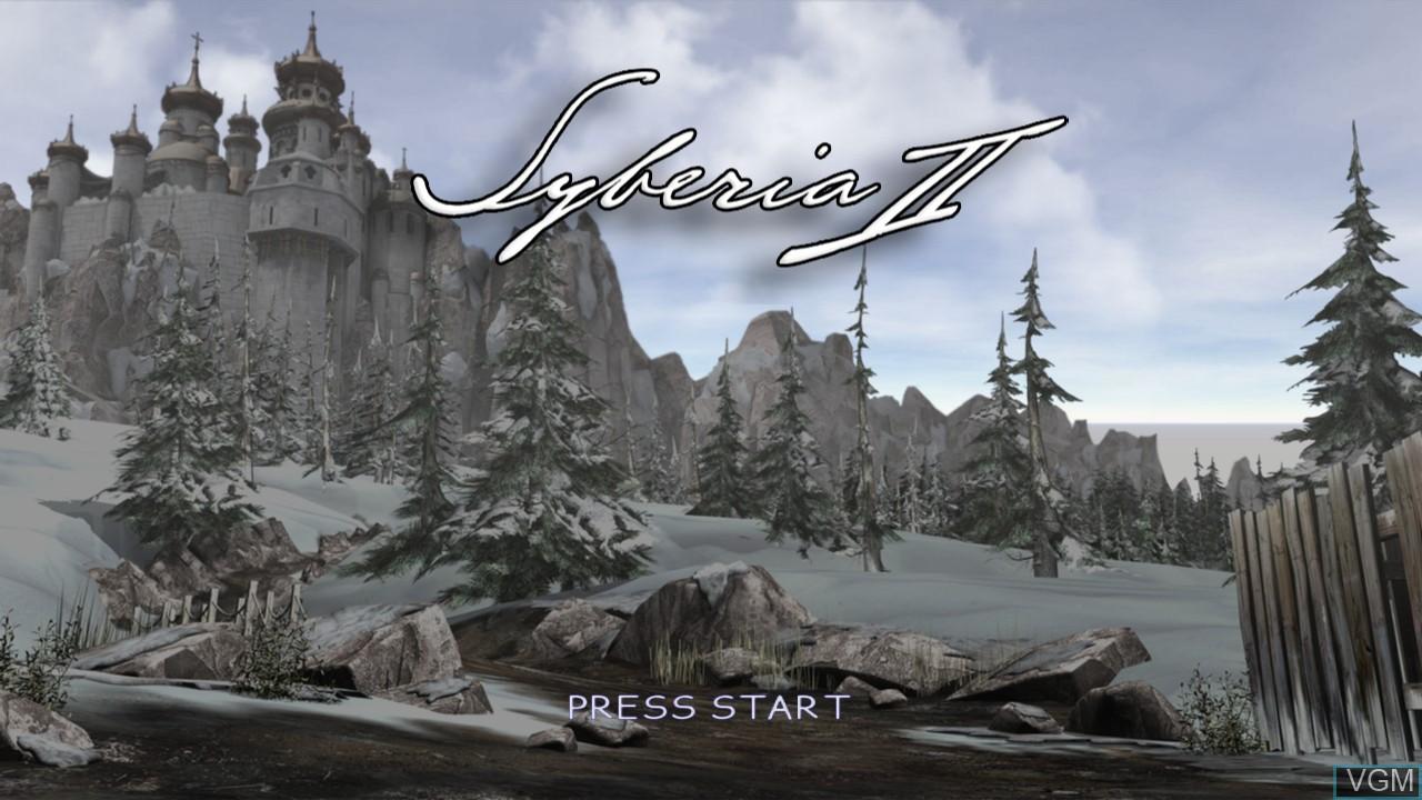 Title screen of the game Syberia II on Microsoft Xbox 360