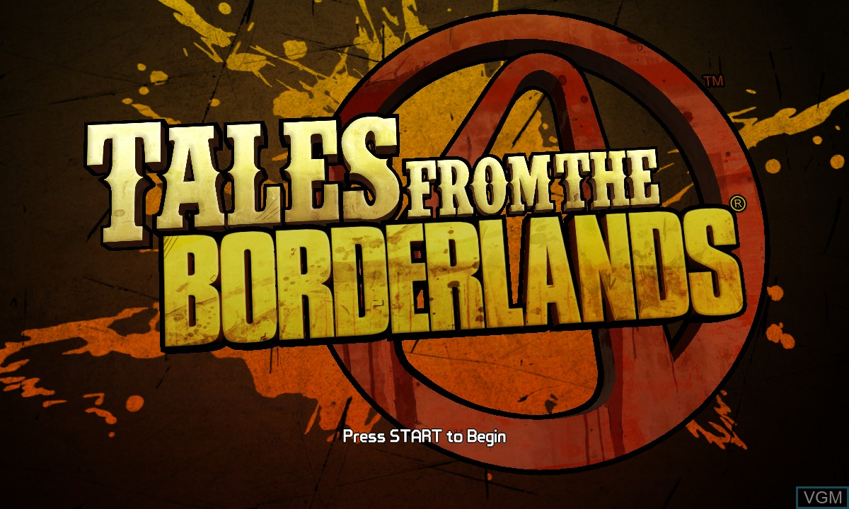 Title screen of the game Tales from the Borderlands - Episode One - Zer0 Sum on Microsoft Xbox 360