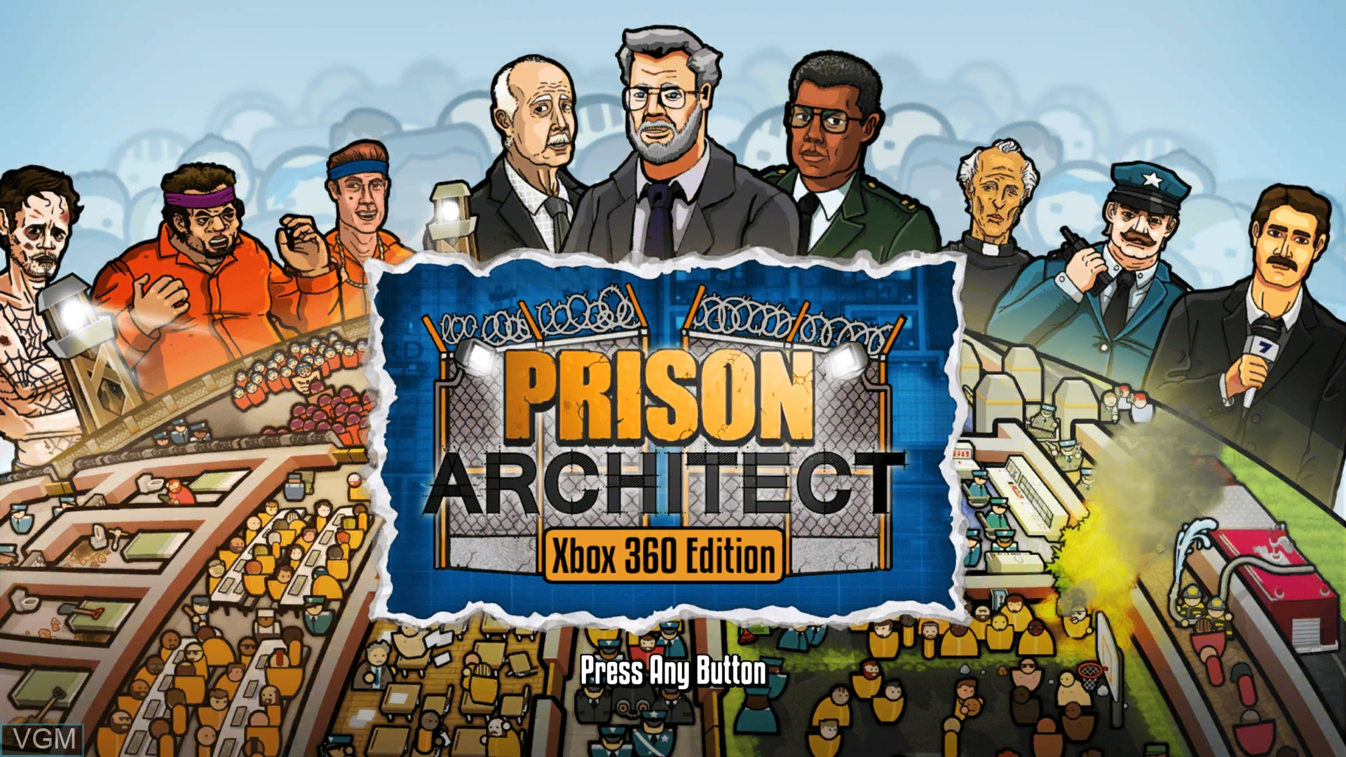 Title screen of the game Prison Architect on Microsoft Xbox 360