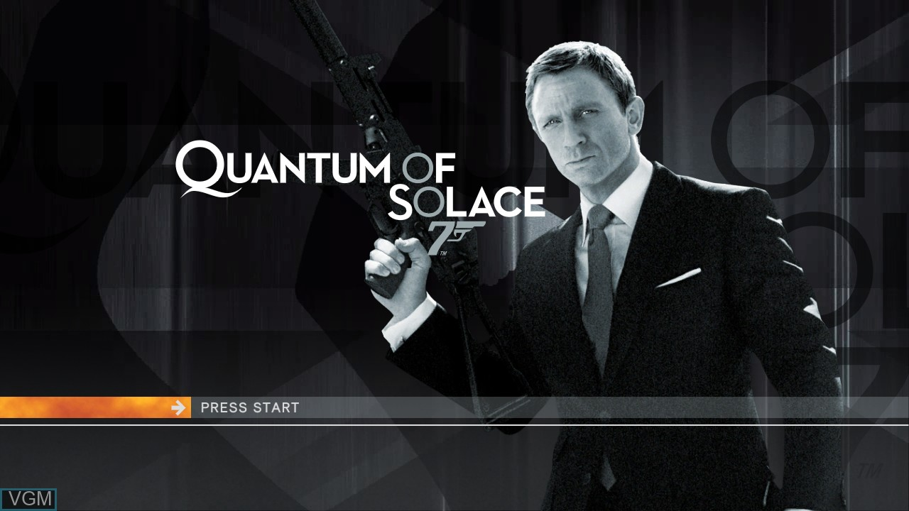 Title screen of the game 007 - Quantum of Solace on Microsoft Xbox 360