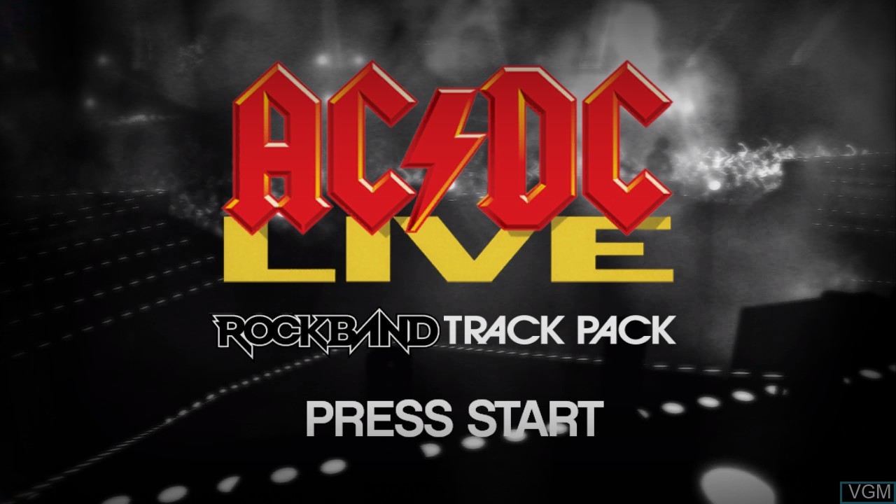 Title screen of the game AC/DC LIVE - Rock Band Track Pack on Microsoft Xbox 360