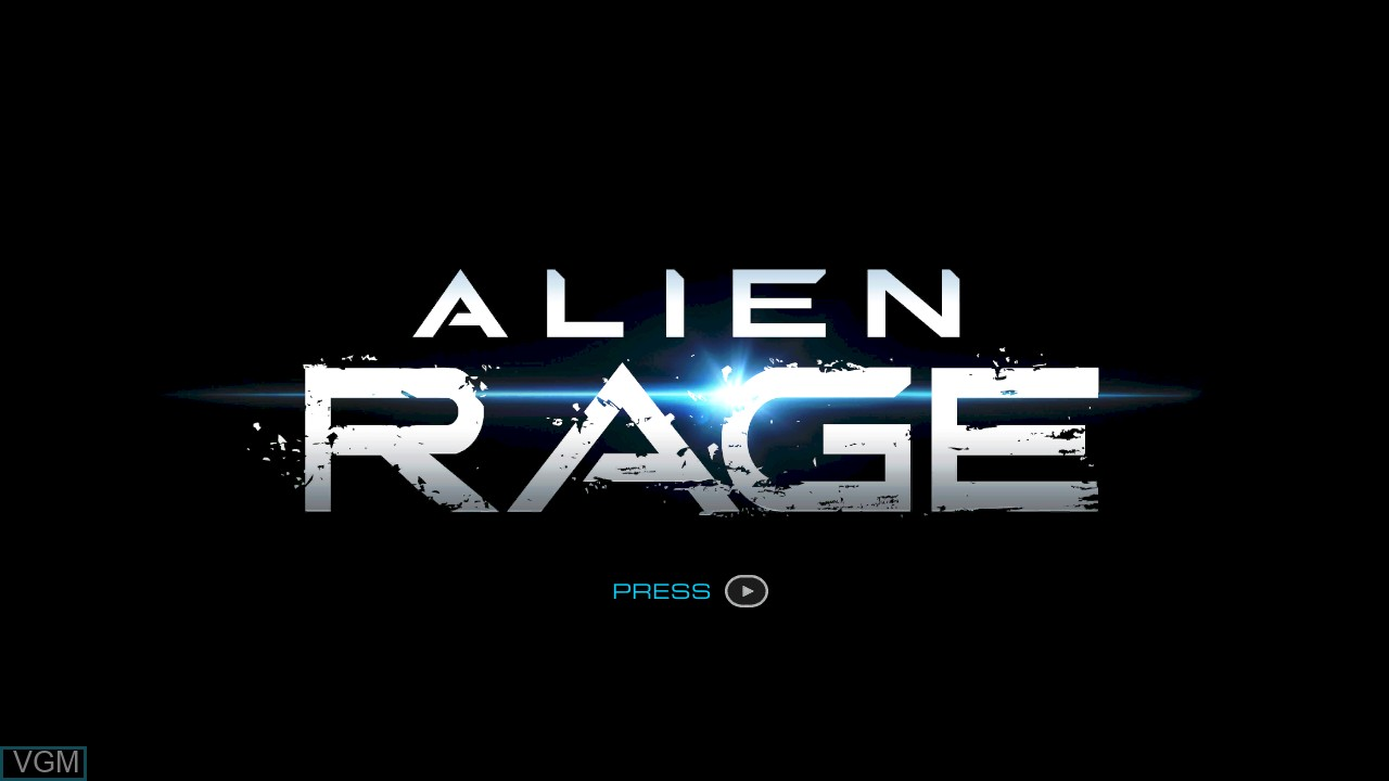 Title screen of the game Alien Rage on Microsoft Xbox 360