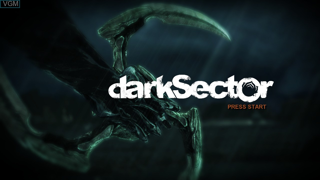 Title screen of the game Dark Sector on Microsoft Xbox 360