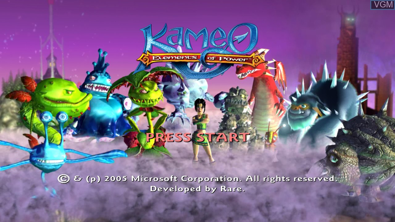 Title screen of the game Kameo - Elements of Power on Microsoft Xbox 360