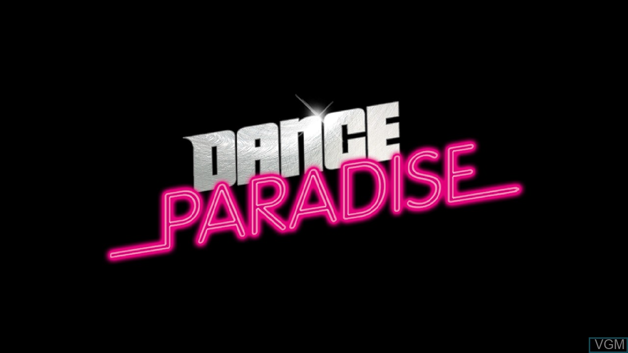 Title screen of the game Dance Paradise on Microsoft Xbox 360
