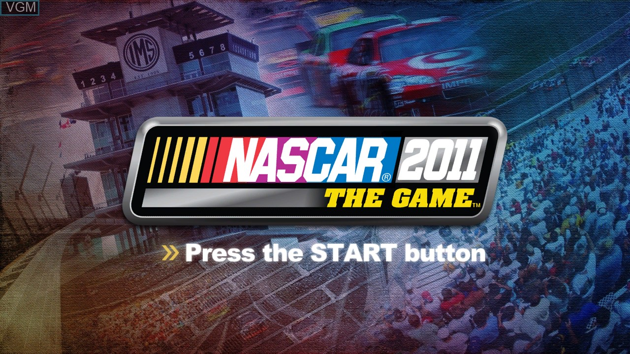 Title screen of the game NASCAR 2011 - The Game on Microsoft Xbox 360