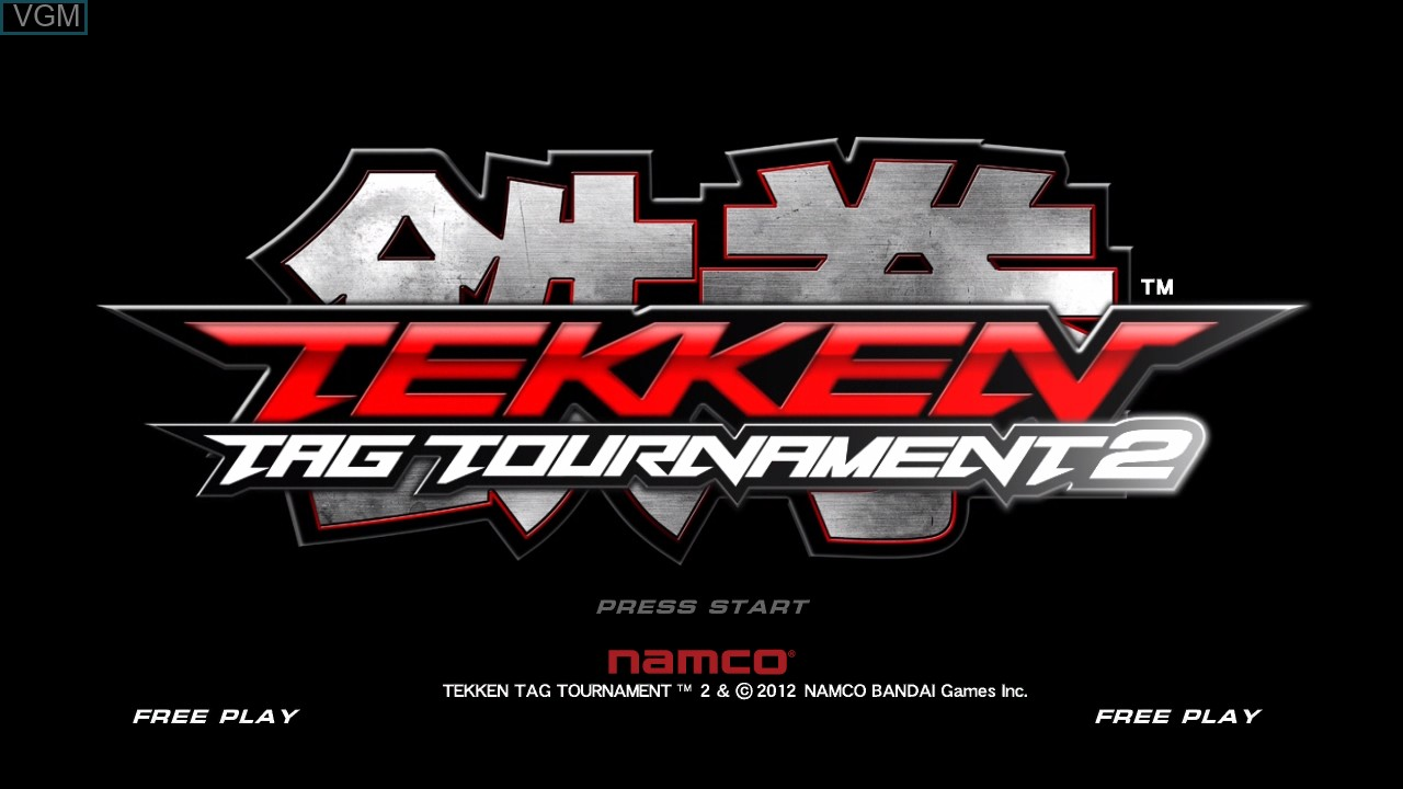 Title screen of the game Tekken Tag Tournament 2 on Microsoft Xbox 360