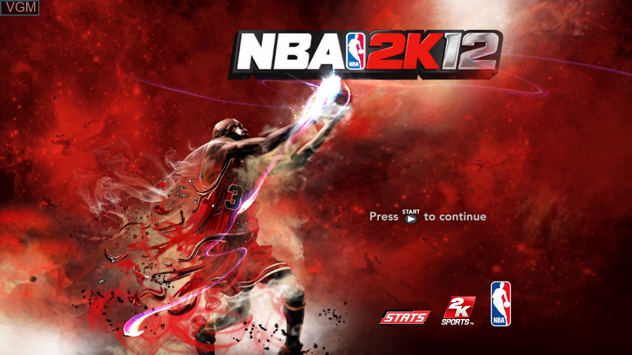 Title screen of the game NBA 2K12 on Microsoft Xbox 360