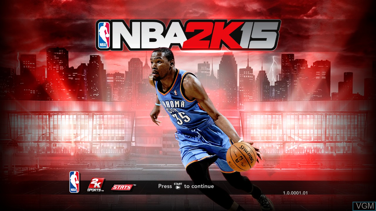 Title screen of the game NBA 2K15 on Microsoft Xbox 360