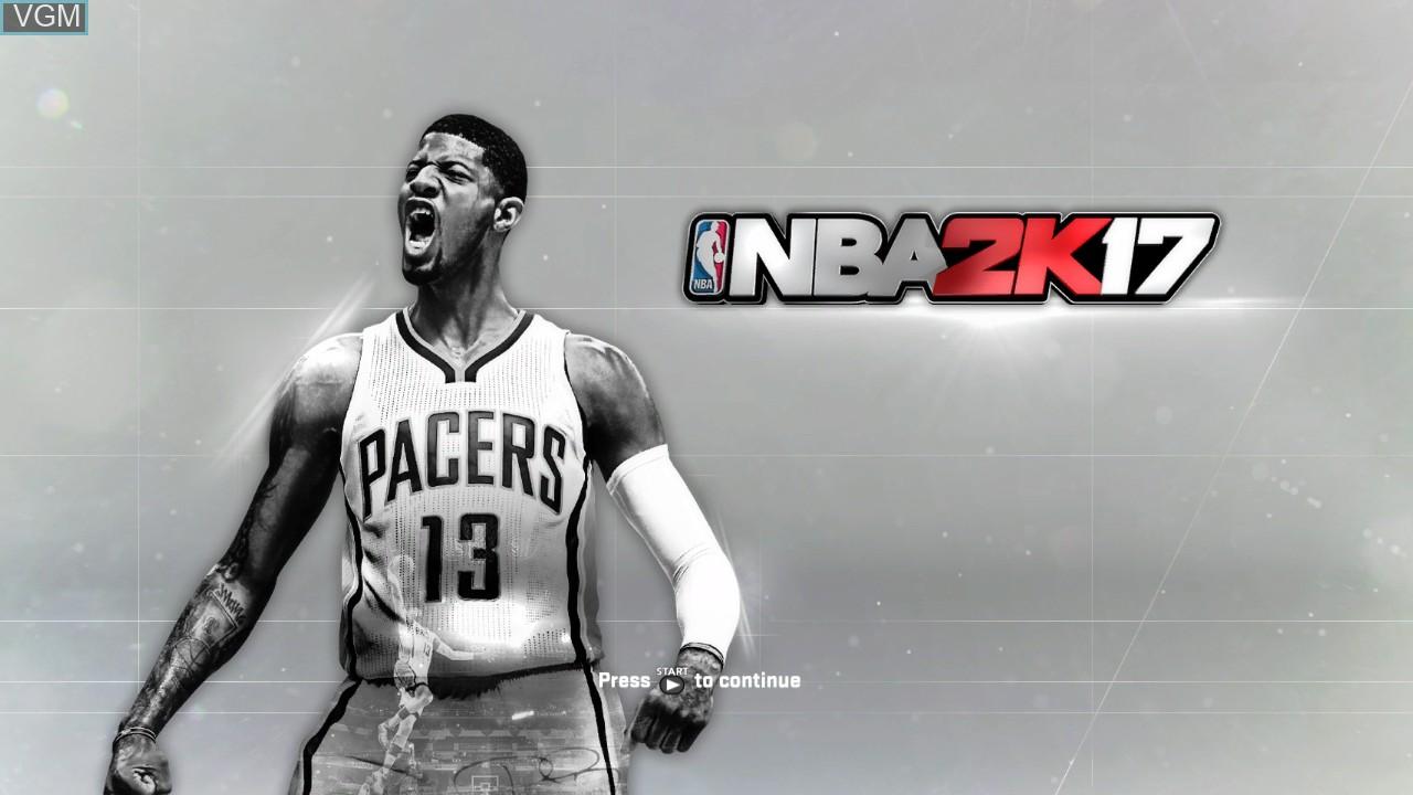 Title screen of the game NBA 2K17 on Microsoft Xbox 360