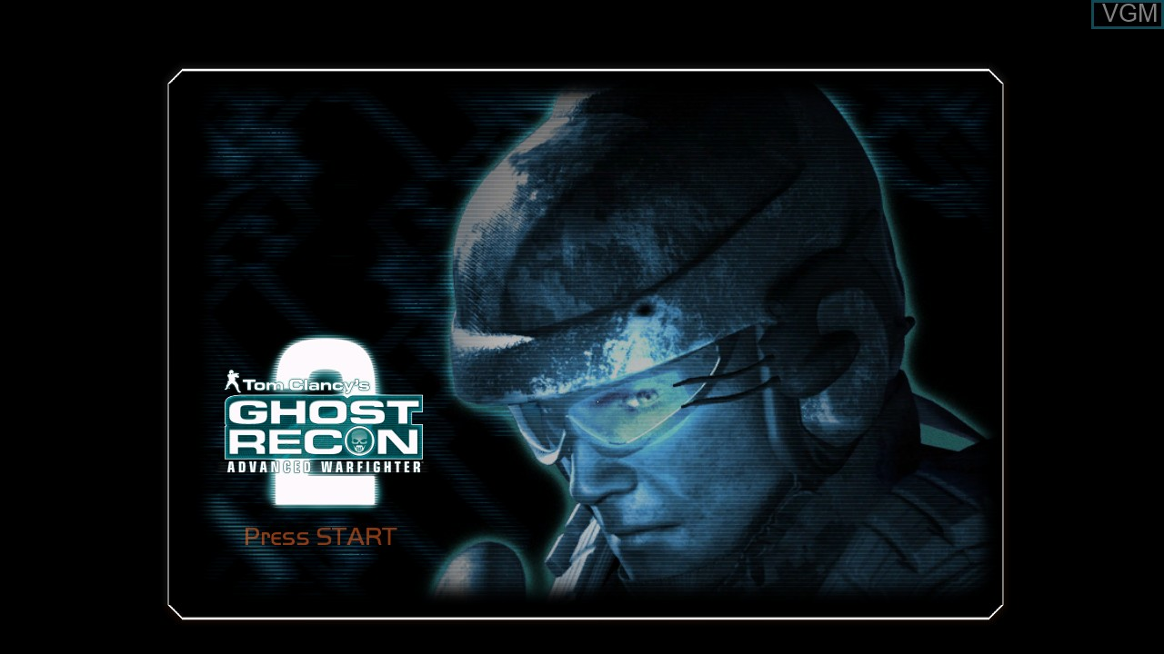 Title screen of the game Tom Clancy's Ghost Recon Advanced Warfighter 2 on Microsoft Xbox 360