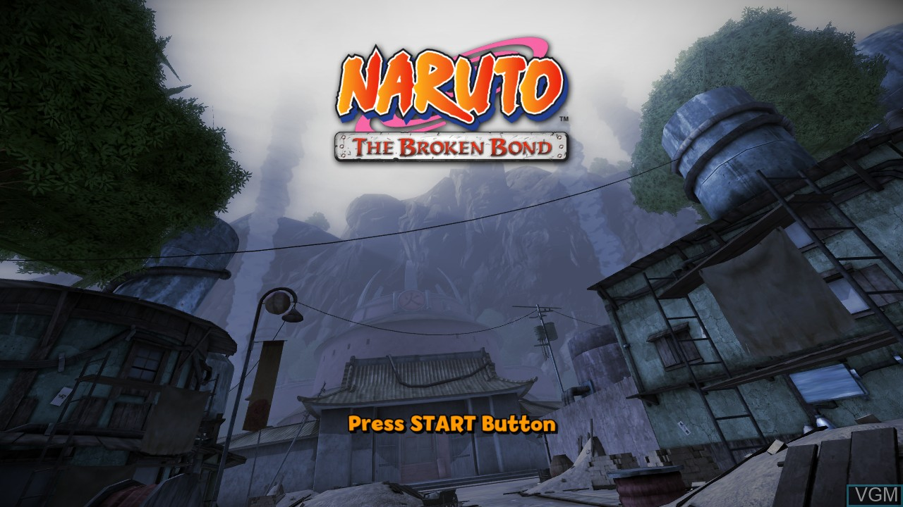 Title screen of the game Naruto - The Broken Bond on Microsoft Xbox 360