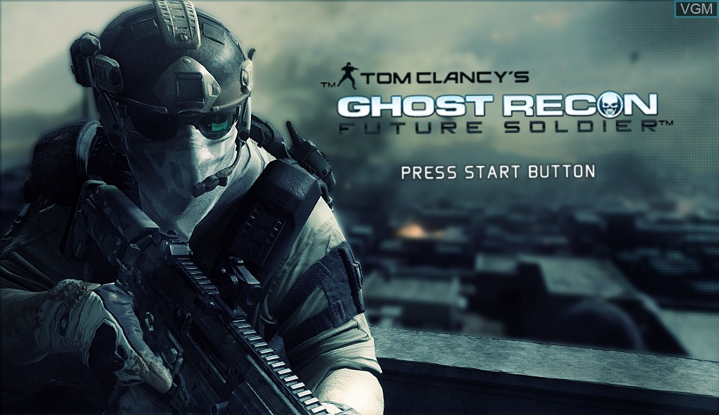 Title screen of the game Tom Clancy's Ghost Recon - Future Soldier on Microsoft Xbox 360