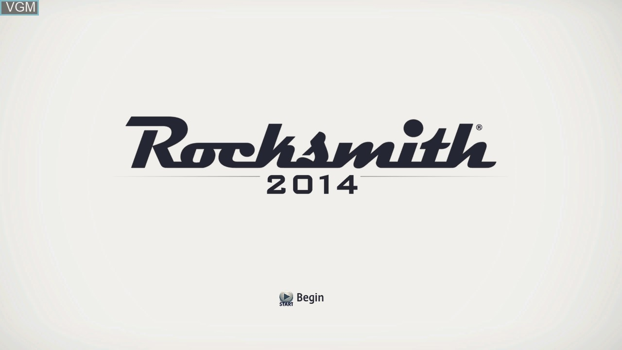 Title screen of the game Rocksmith 2014 Edition on Microsoft Xbox 360