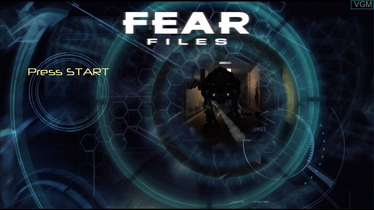 Title screen of the game F.E.A.R. Files on Microsoft Xbox 360
