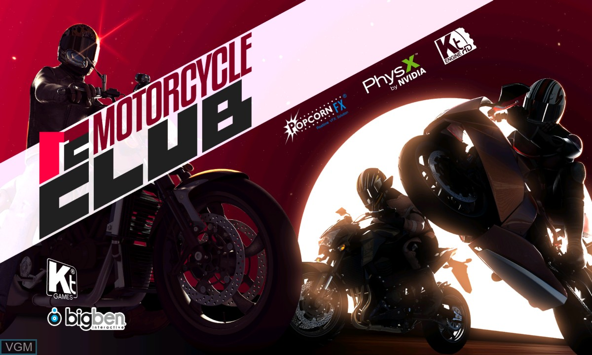 Title screen of the game Motorcycle Club on Microsoft Xbox 360