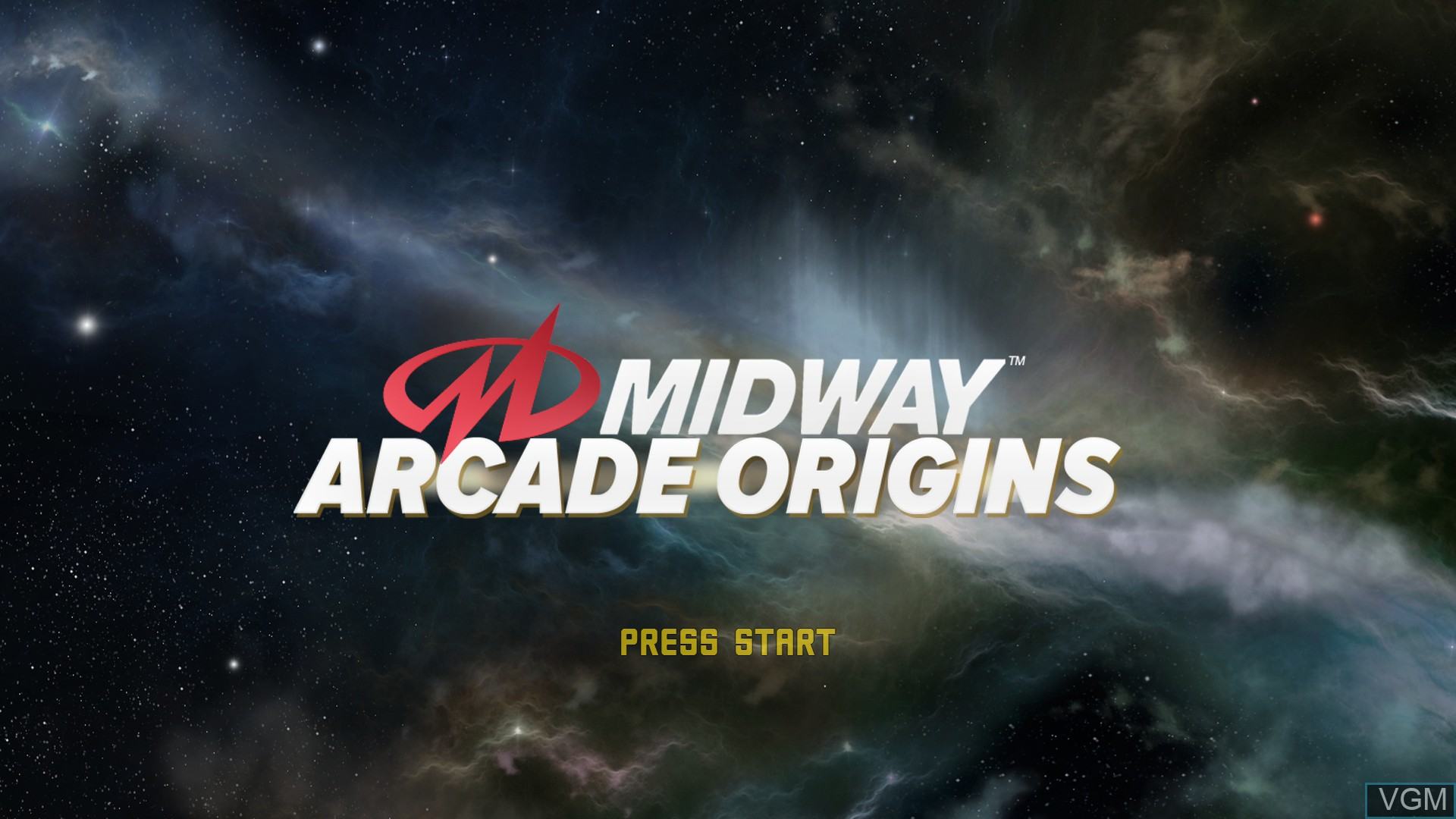 Title screen of the game Midway Arcade Origins on Microsoft Xbox 360