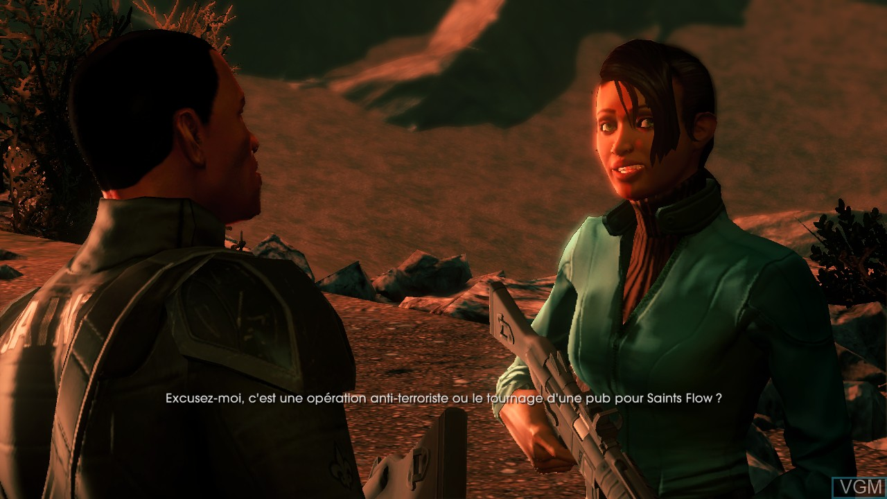 Menu screen of the game Saints Row IV on Microsoft Xbox 360