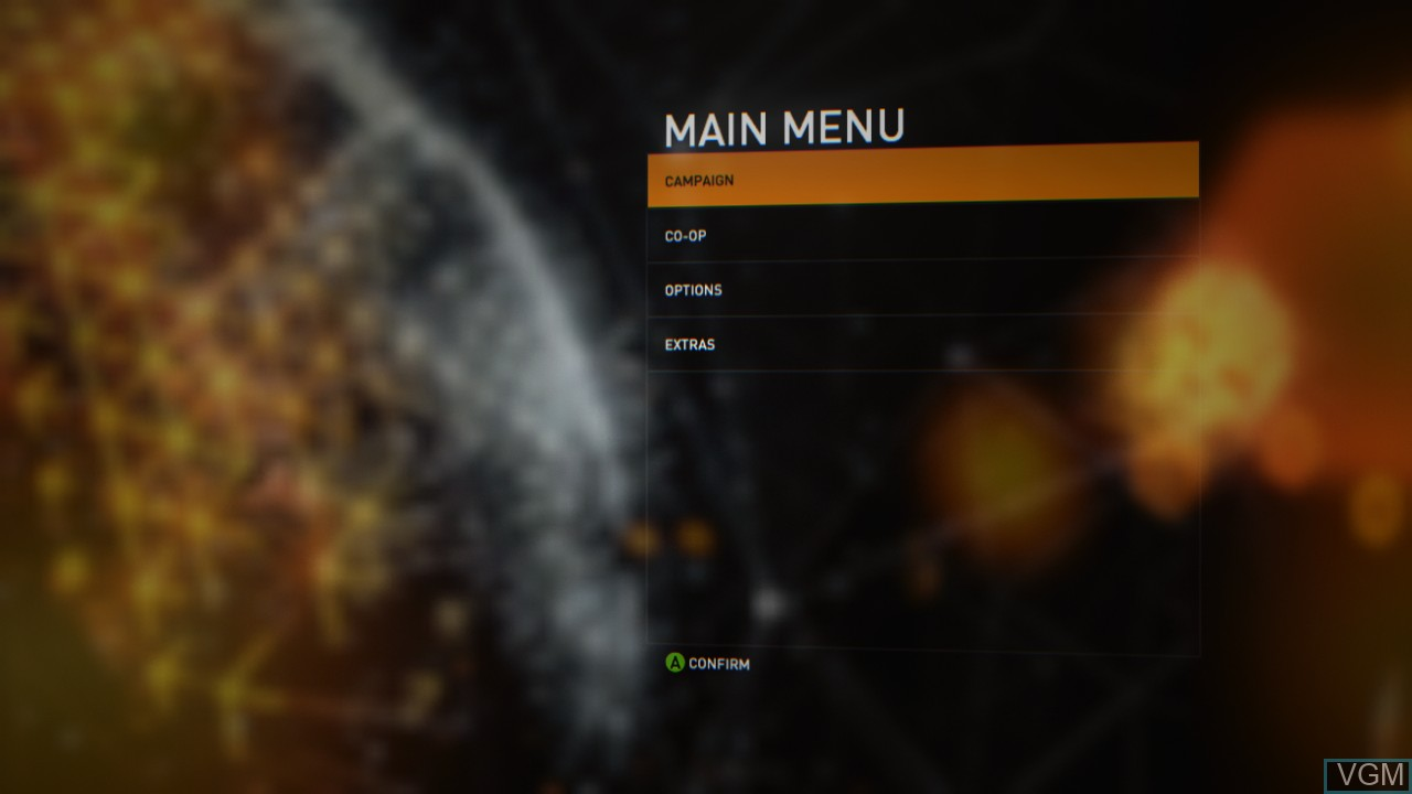 Menu screen of the game Syndicate on Microsoft Xbox 360