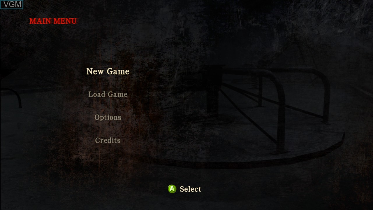 Menu screen of the game Silent Hill - Homecoming on Microsoft Xbox 360