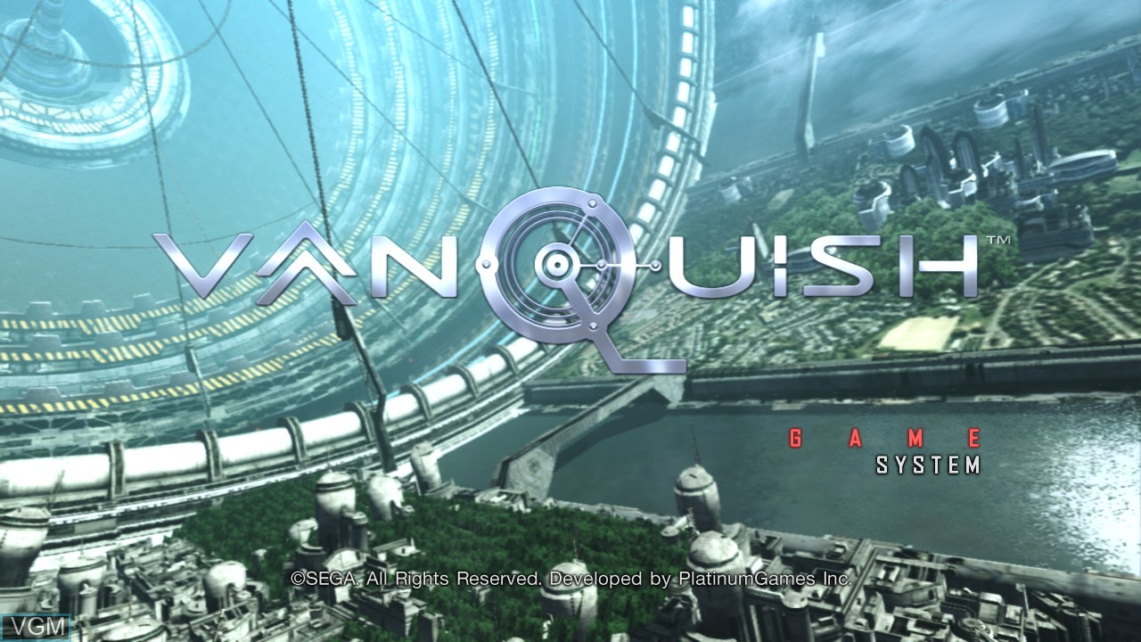 Menu screen of the game Vanquish on Microsoft Xbox 360