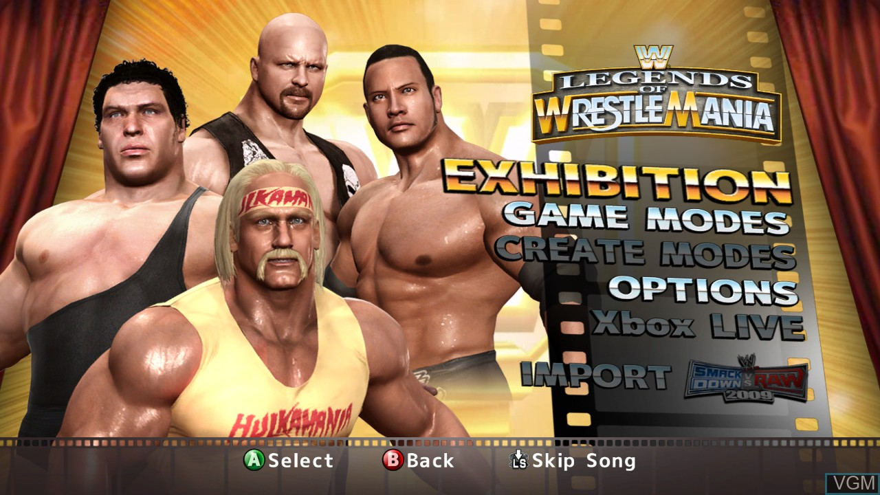 Wwe Legends Of Wrestlemania For Microsoft Xbox 360 The Video Games Museum