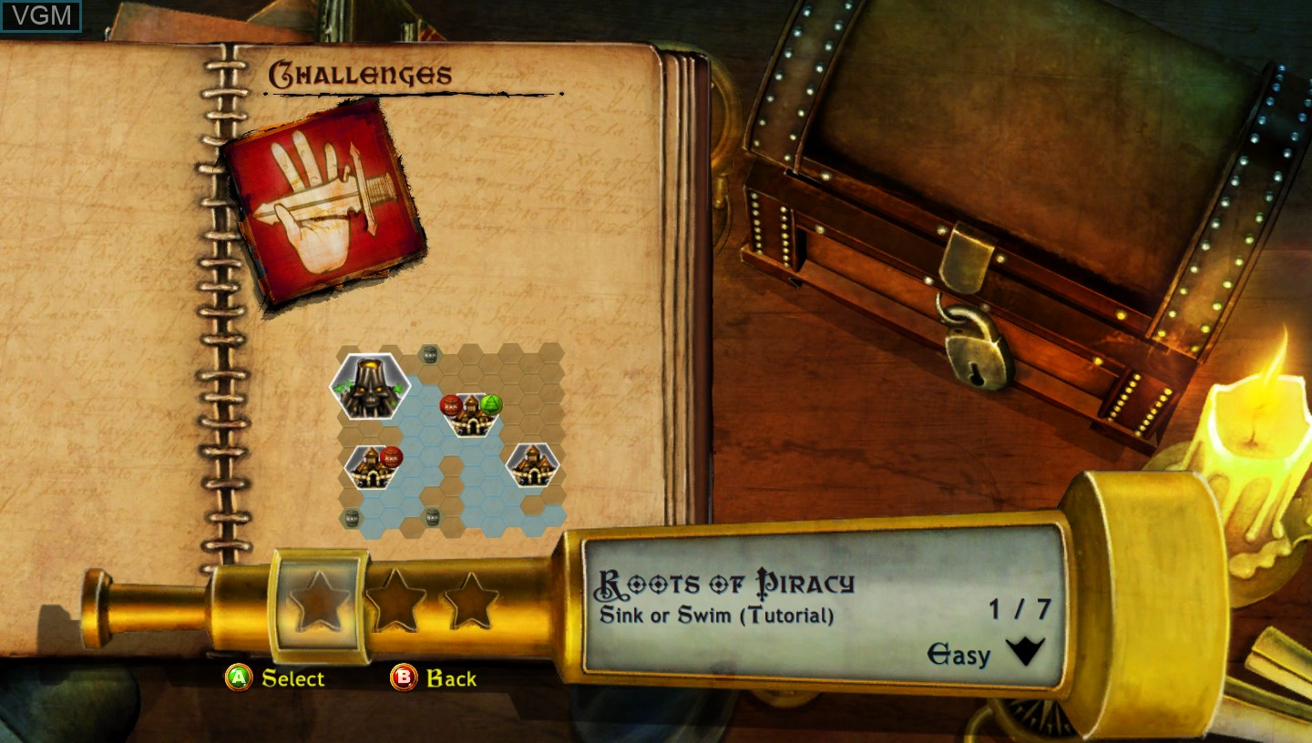 Menu screen of the game Age of Booty on Microsoft Xbox 360