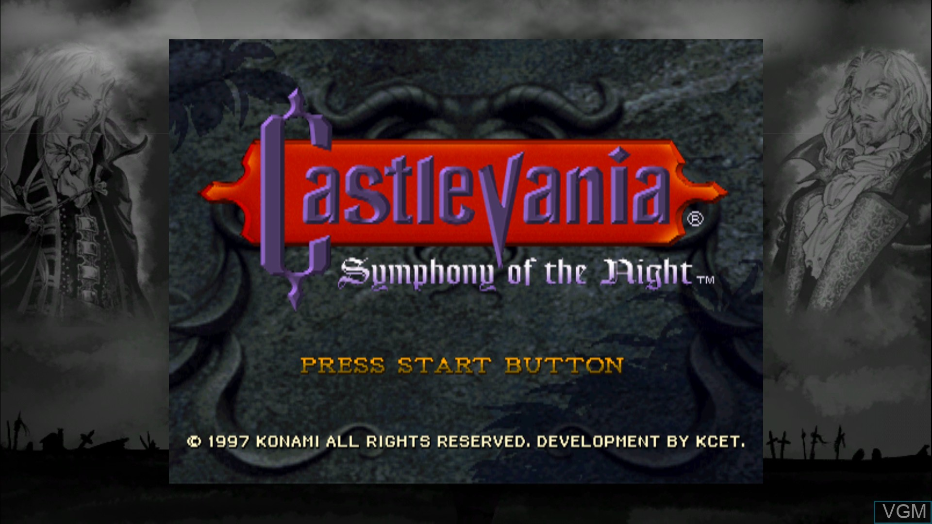 Menu screen of the game Castlevania - Symphony of the Night on Microsoft Xbox 360