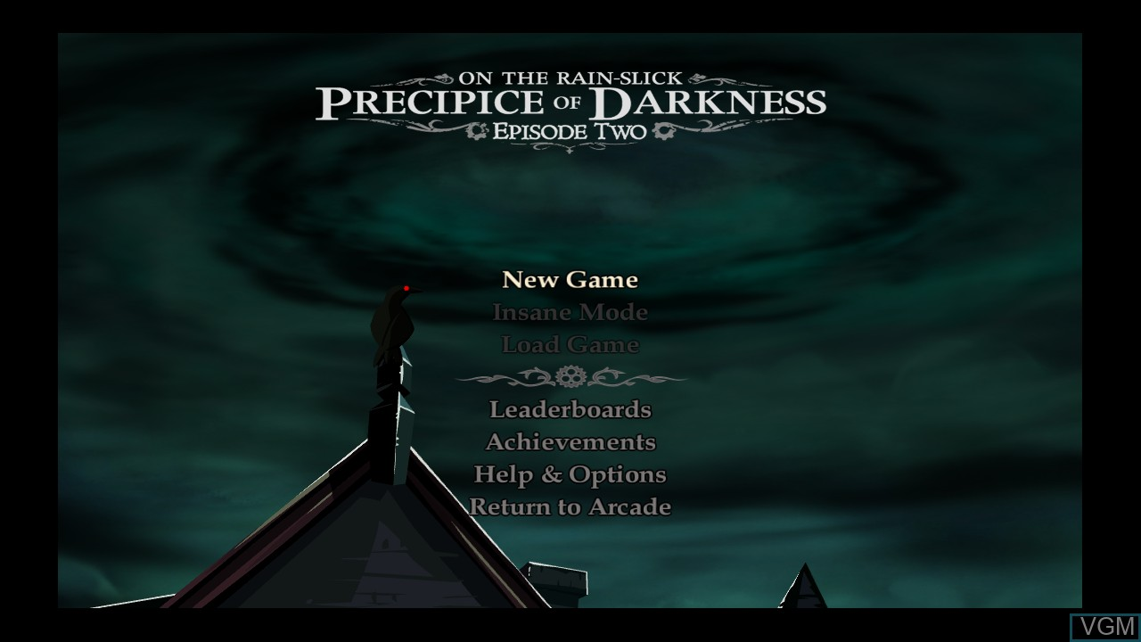 Menu screen of the game Penny Arcade Adventures - On the Rain-Slick Precipice of Darkness Episode Two on Microsoft Xbox 360