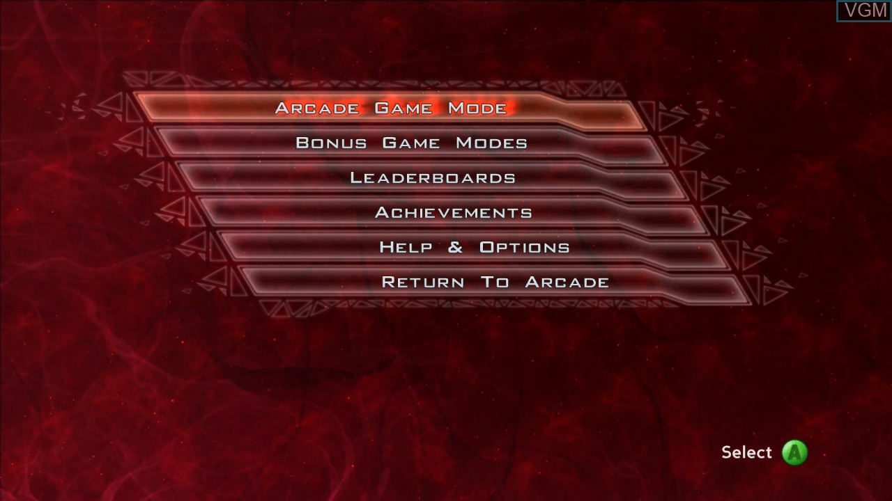 Menu screen of the game PowerUp Forever on Microsoft Xbox 360