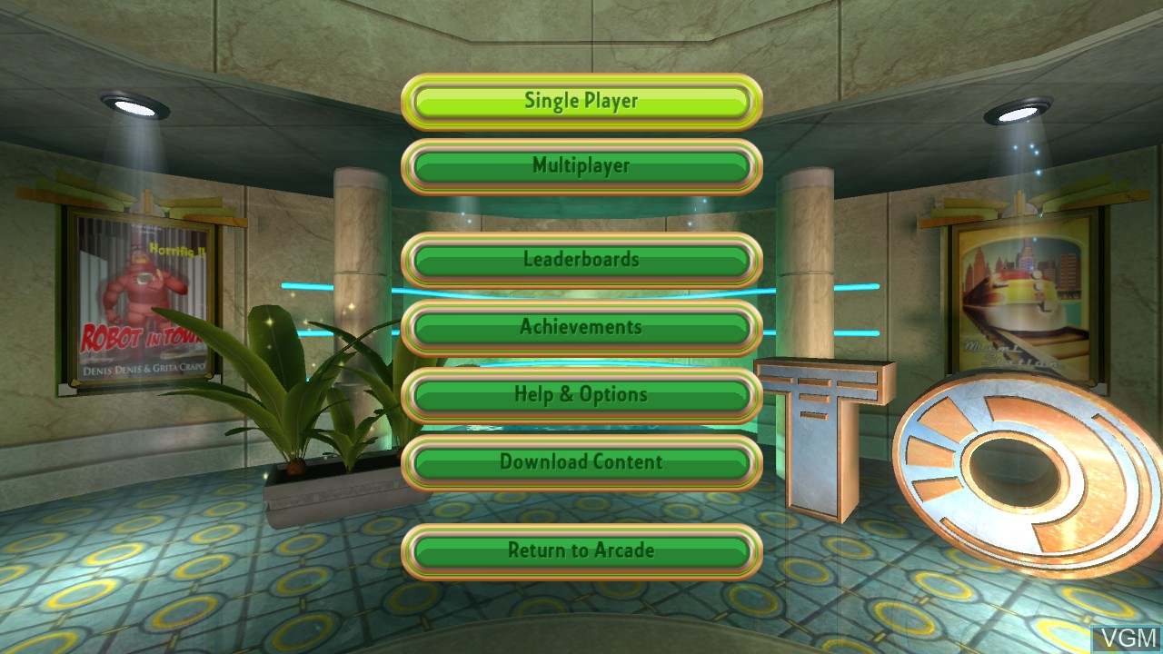 Menu screen of the game Things on Wheels on Microsoft Xbox 360