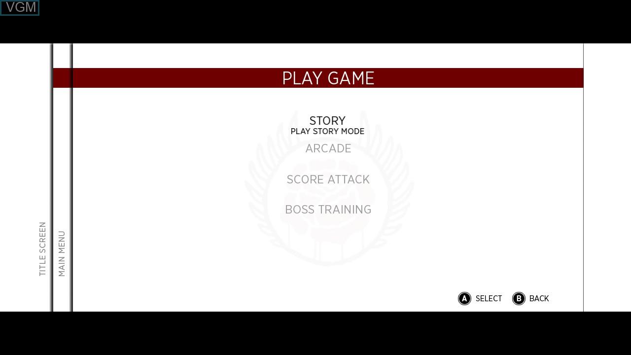 Menu screen of the game Sine Mora on Microsoft Xbox 360