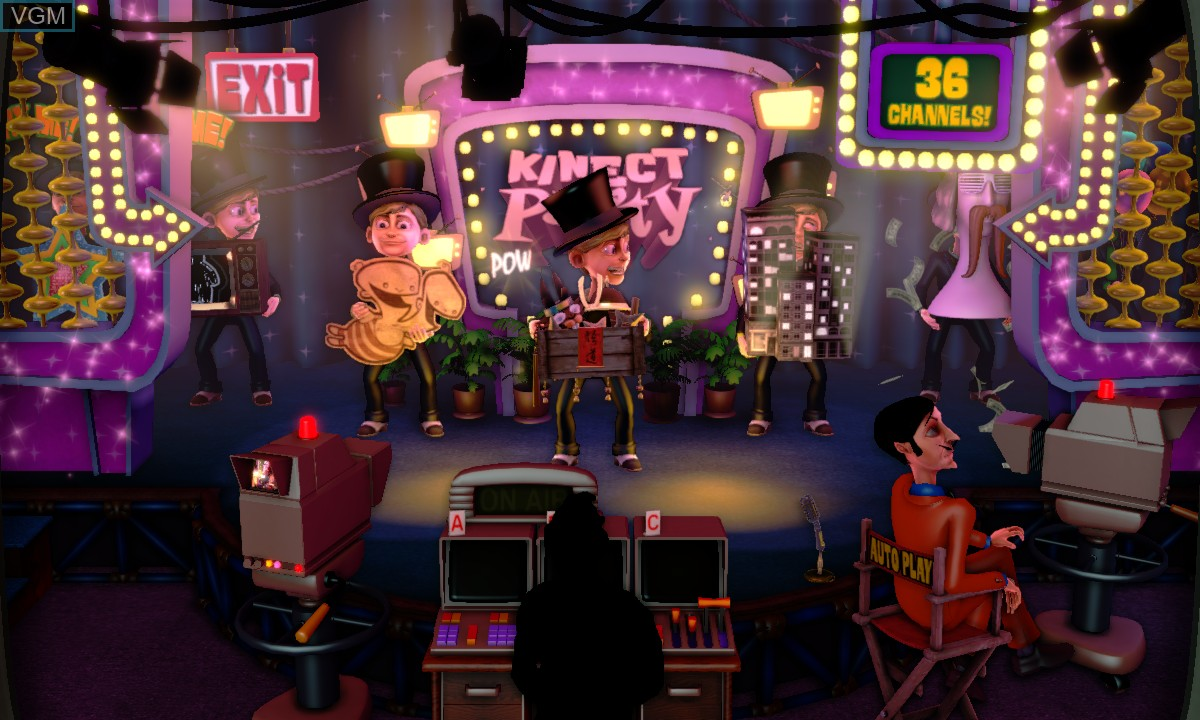 Menu screen of the game Kinect Party on Microsoft Xbox 360