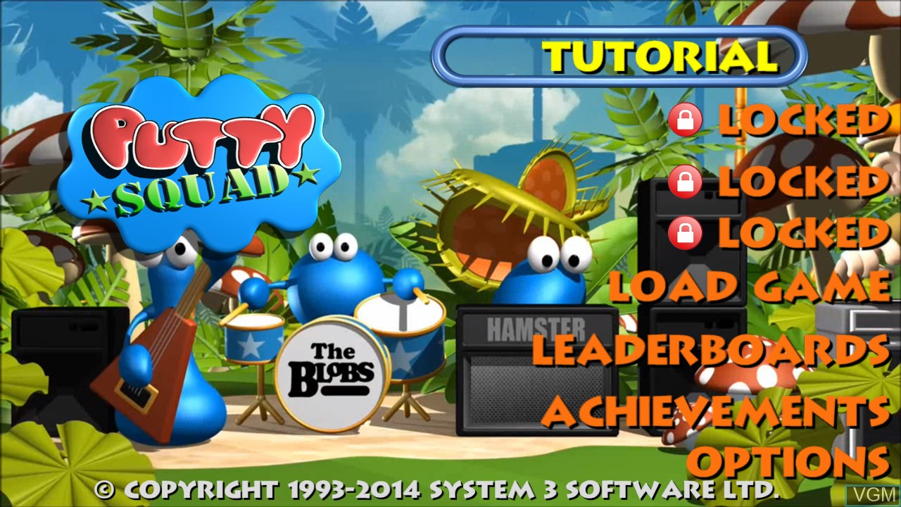 Menu screen of the game Putty Squad on Microsoft Xbox 360