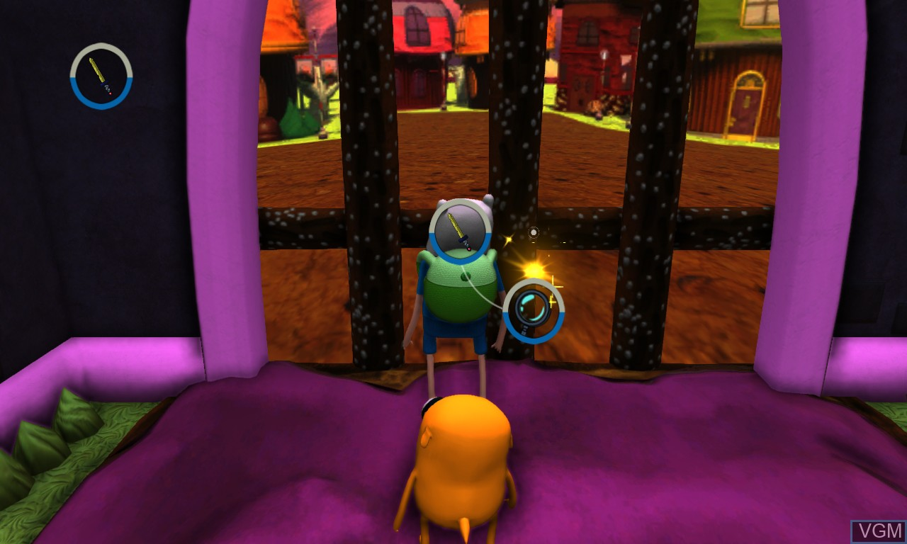 In-game screen of the game Adventure Time - Finn and Jake Investigations on Microsoft Xbox 360