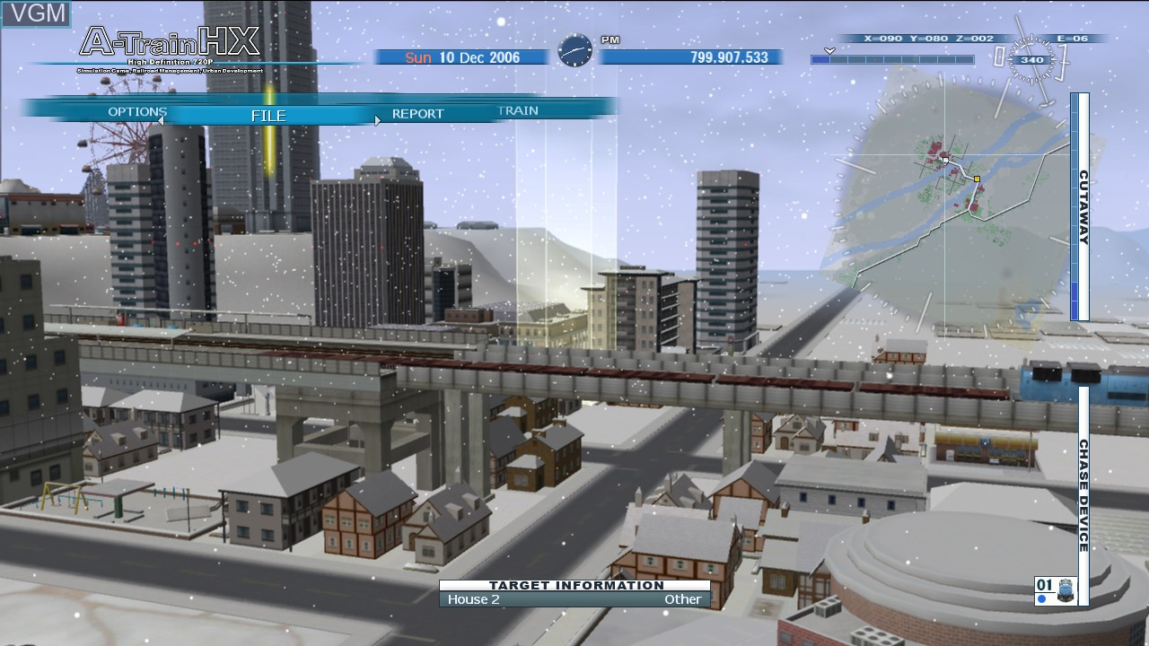 In-game screen of the game A-Train HX on Microsoft Xbox 360