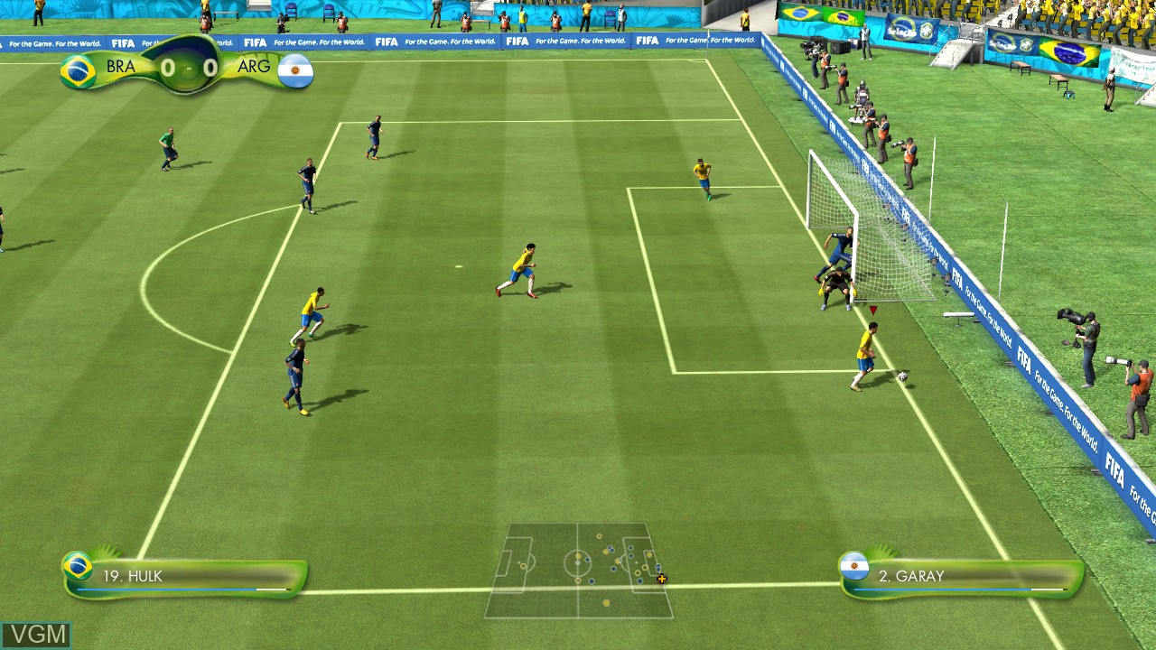 In-game screen of the game 2014 FIFA World Cup Brazil on Microsoft Xbox 360